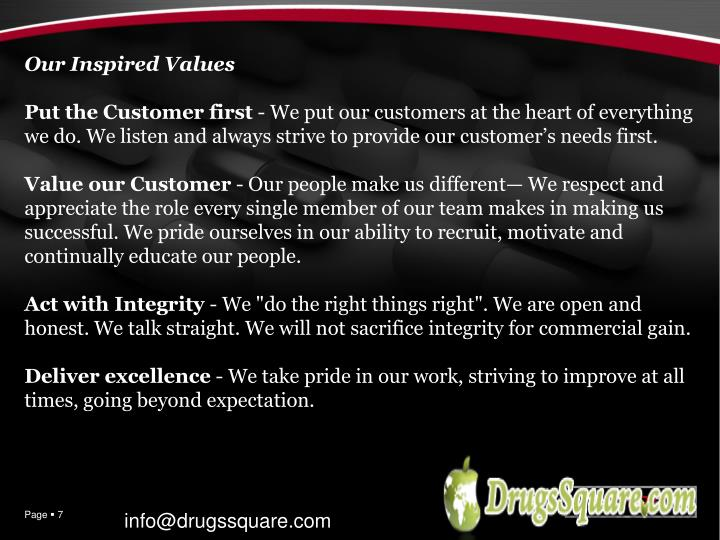 Our Inspired Values