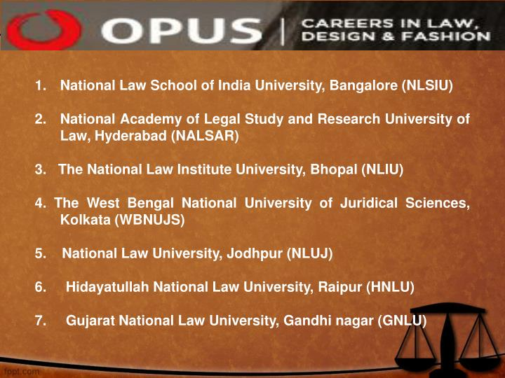 National Law School of India University, Bangalore (NLSIU)