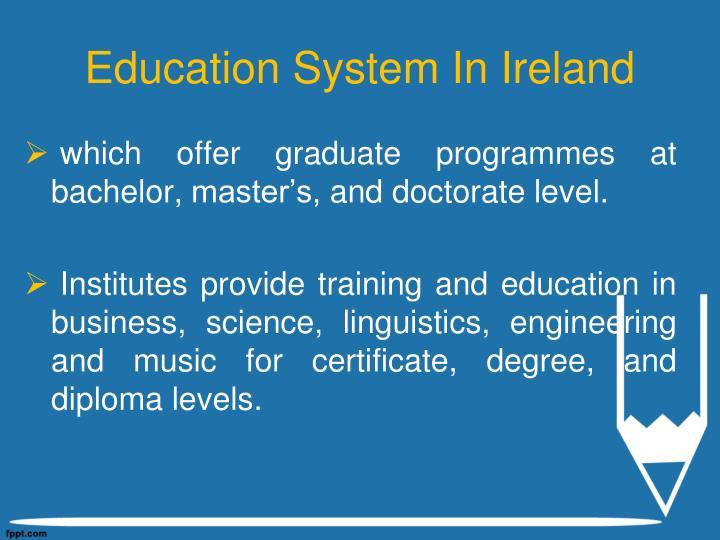 Education System In Ireland