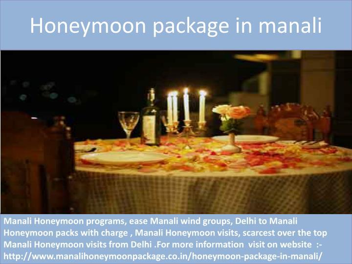 Honeymoon package in manali