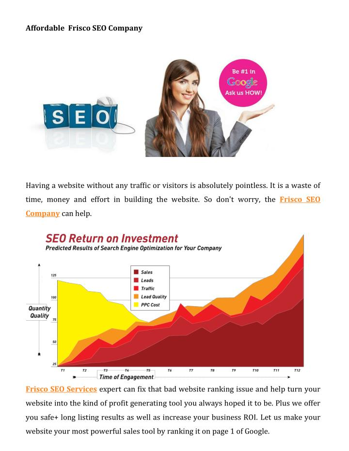 Affordable  Frisco SEO Company