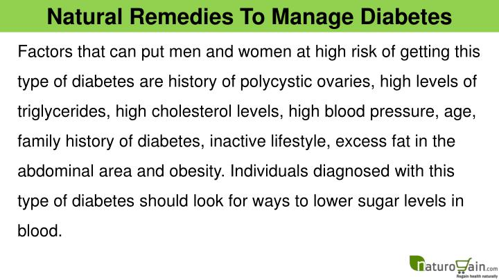 Natural Remedies To Manage Diabetes