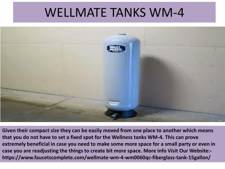 Wellmate tanks wm 4