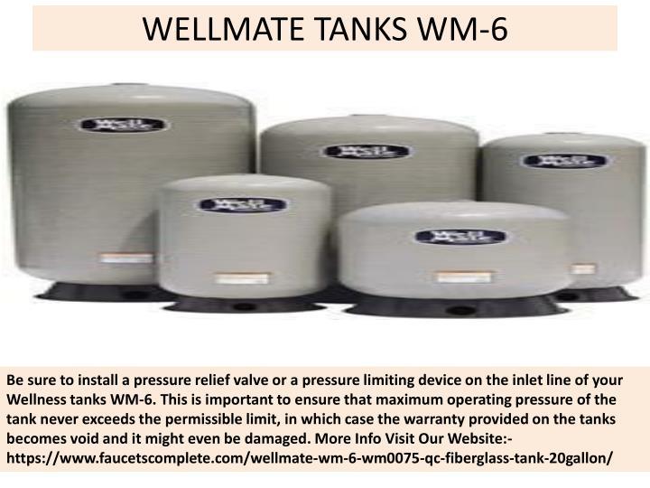 Wellmate tanks wm 6