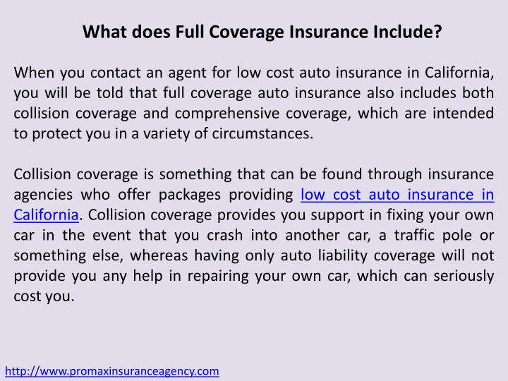 What does Full Coverage Insurance Include?