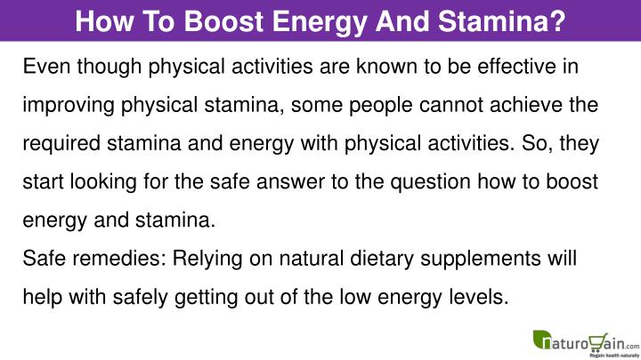 How To Boost Energy And Stamina?