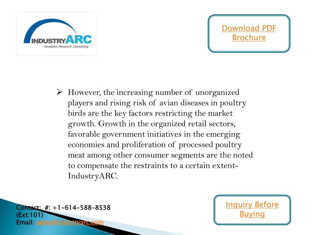PPT - Processed Poultry & Meat Market- rising utilization of