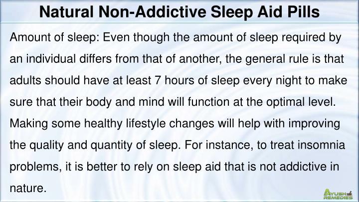 Natural Non-Addictive Sleep Aid Pills