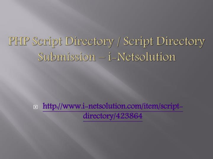 php script directory script directory submission i netsolution