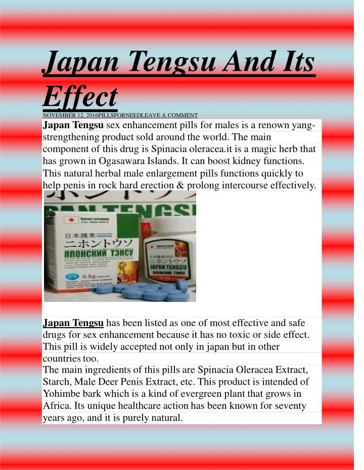 Japan t engsu and its effect