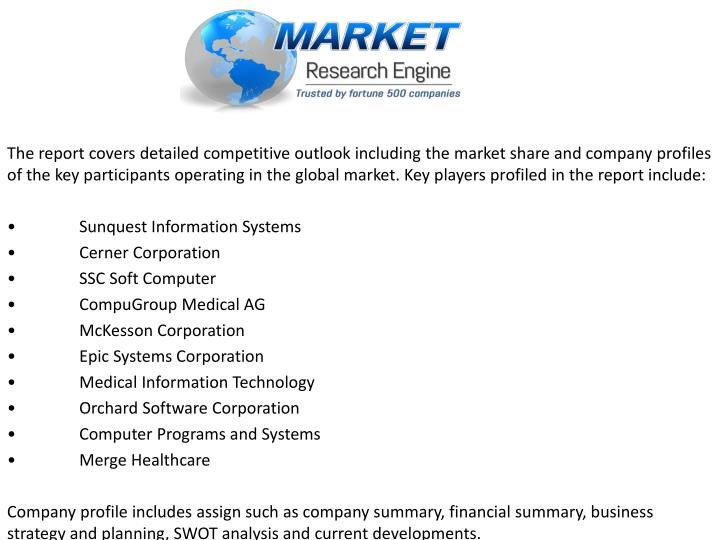 The report covers detailed competitive outlook including the market share and company profiles of the key participants operating in the global market. Key players profiled in the report include: