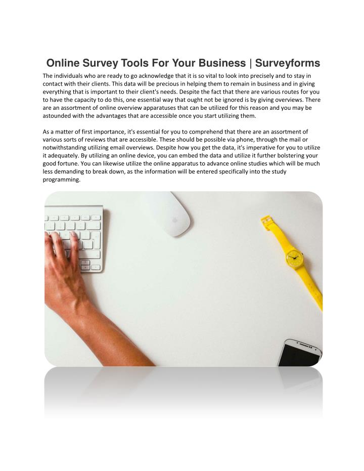 Online Survey Tools For Your Business | Surveyforms
