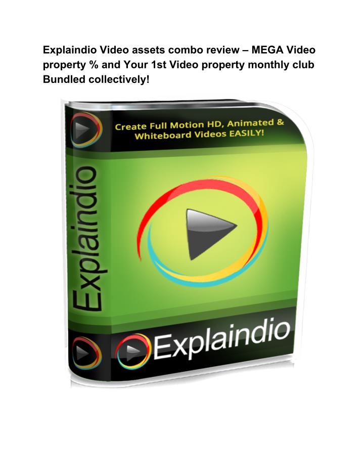 Explaindio Video assets combo review – MEGA Video