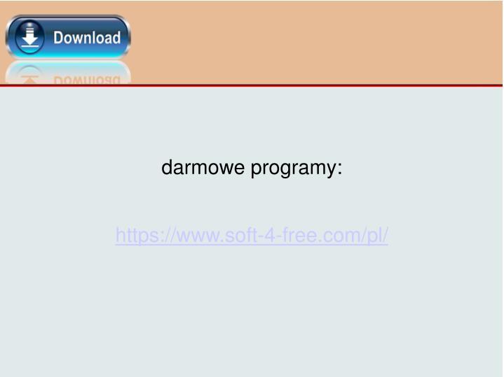 darmowe programy: