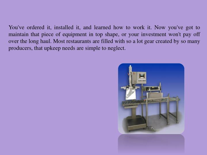 You've ordered it, installed it, and learned how to work it. Now you've got to maintain that piece o...