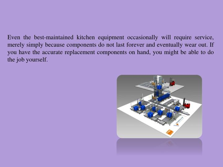 Even the best-maintained kitchen equipment occasionally will require service, merely simply because components do not last forever and eventually wear out. If you have the accurate replacement components on hand, you might be able to do the job yourself.