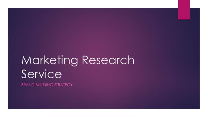 Marketing research service