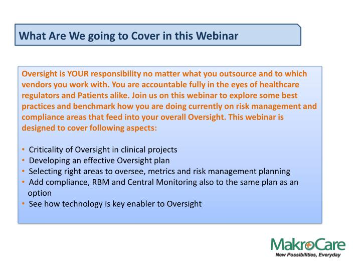 What Are We going to Cover in this Webinar
