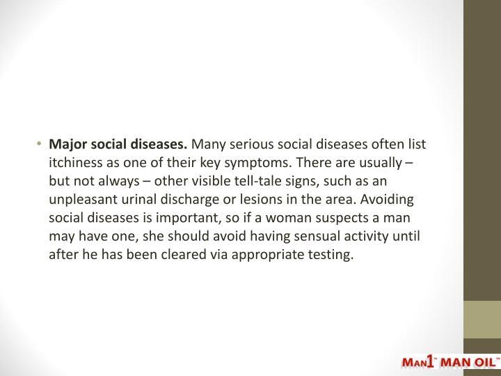 Major social diseases.