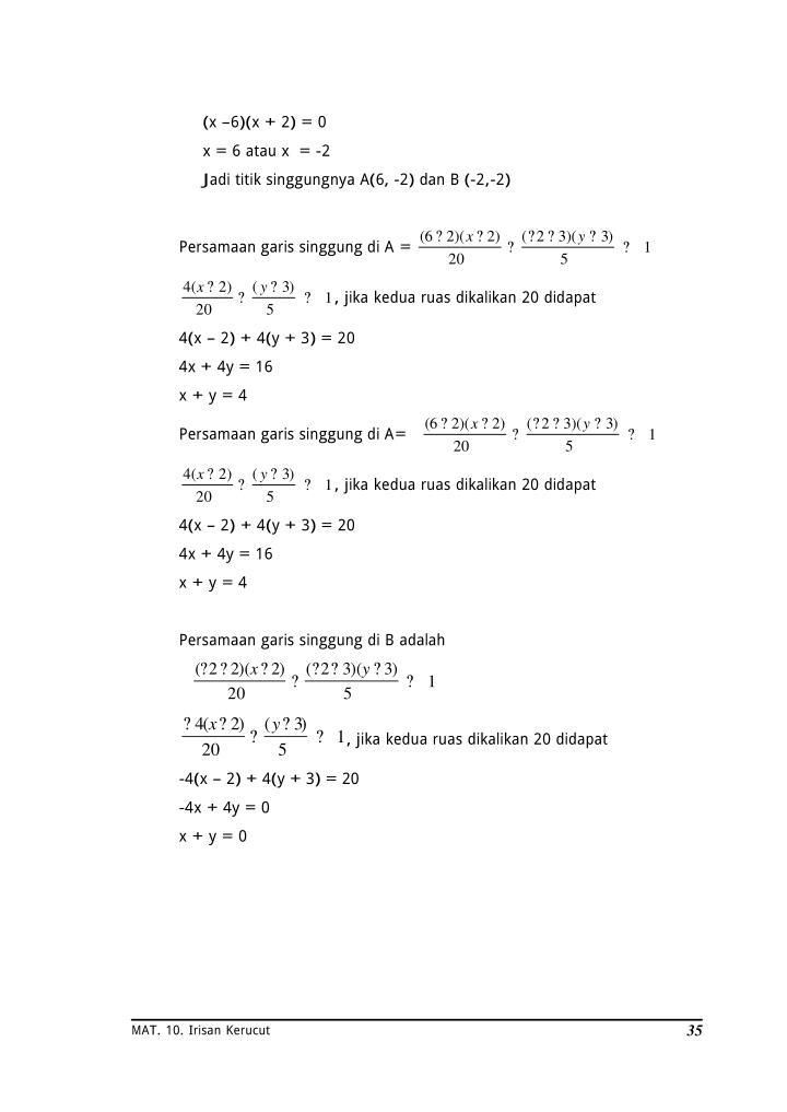 (x –6)(x + 2) = 0