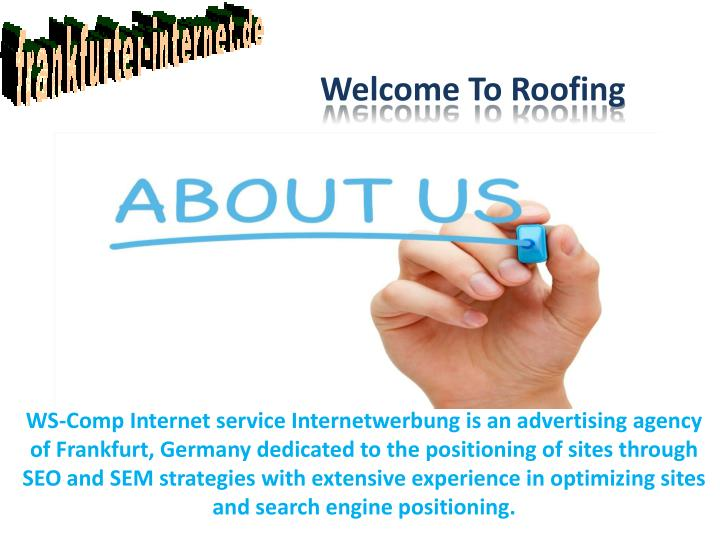 Welcome To Roofing