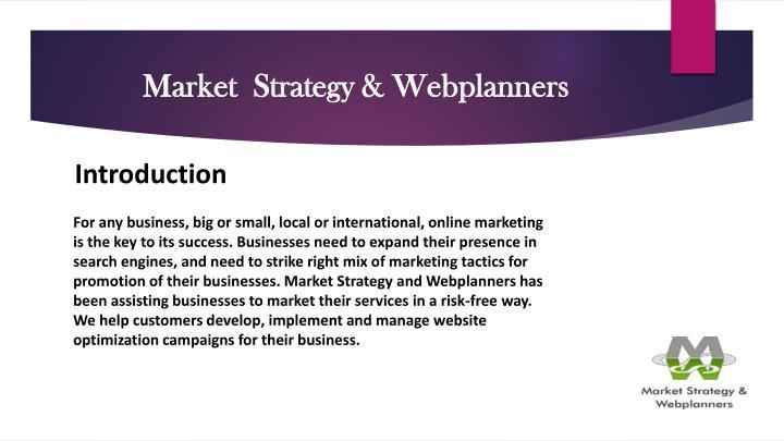 Market strategy webplanners1
