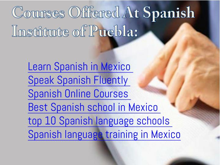 Courses Offered At