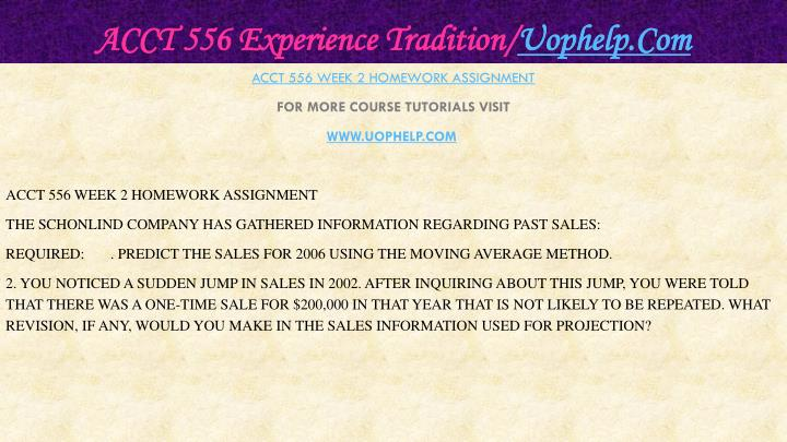 Acct 556 experience tradition uophelp com2
