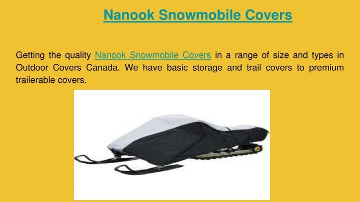 Nanook Snowmobile Covers