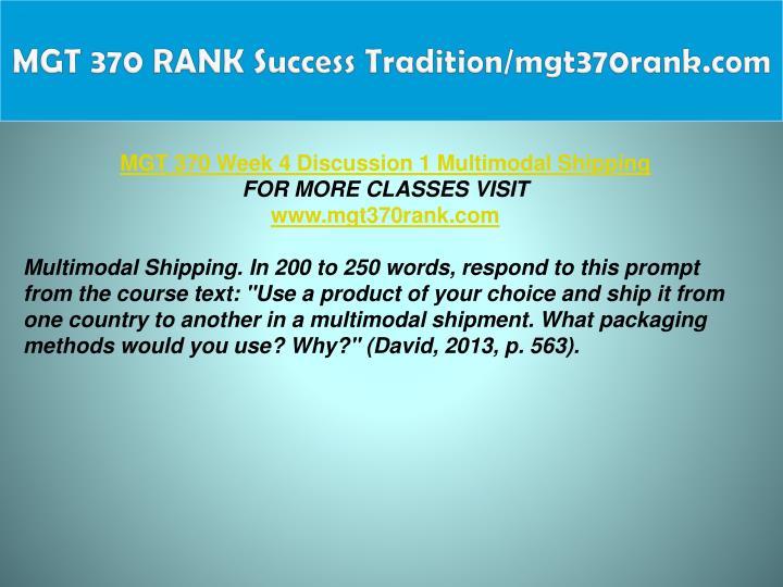 MGT 370 RANK Success Tradition/mgt370rank.com