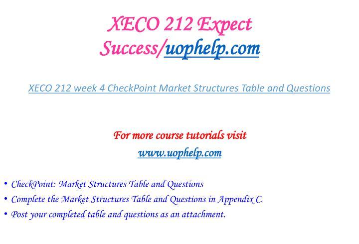 XECO 212 Expect Success/