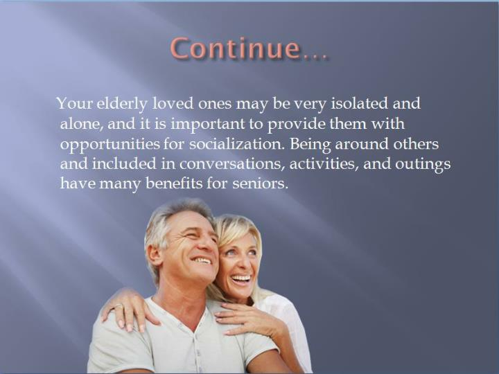 Positive effects of socialization on seniors