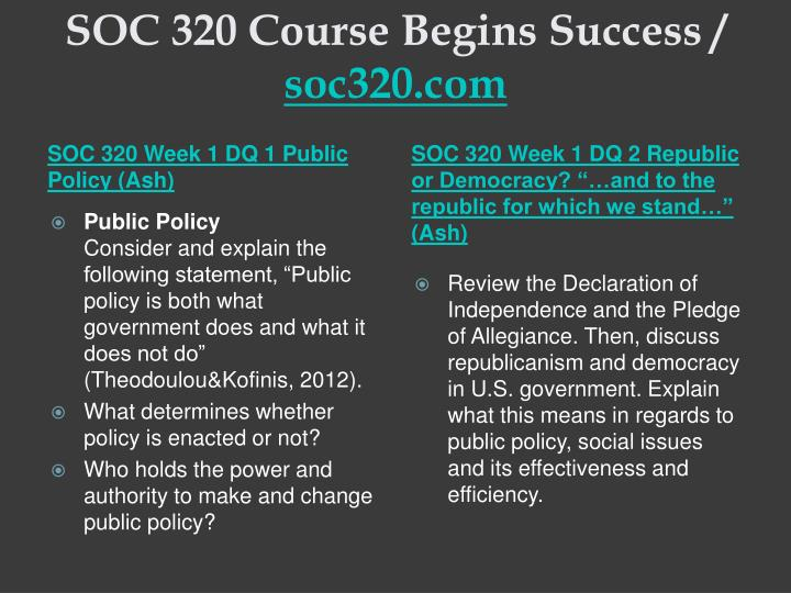 Soc 320 course begins success soc320 com1