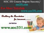 soc 331 course begins success soc331 com10
