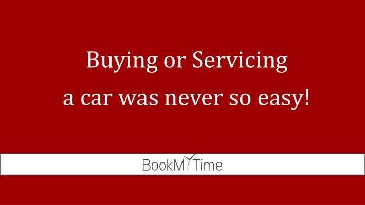 Buying or servicing a car was never so easy