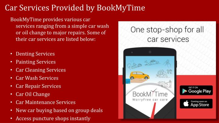 Car services provided by bookmytime
