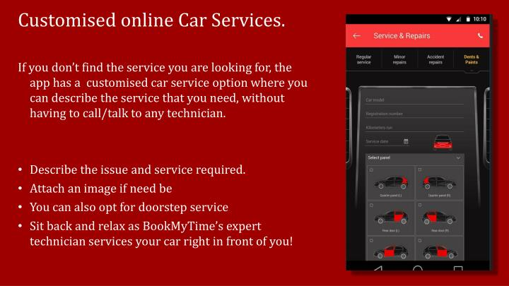 Customised online Car Services.