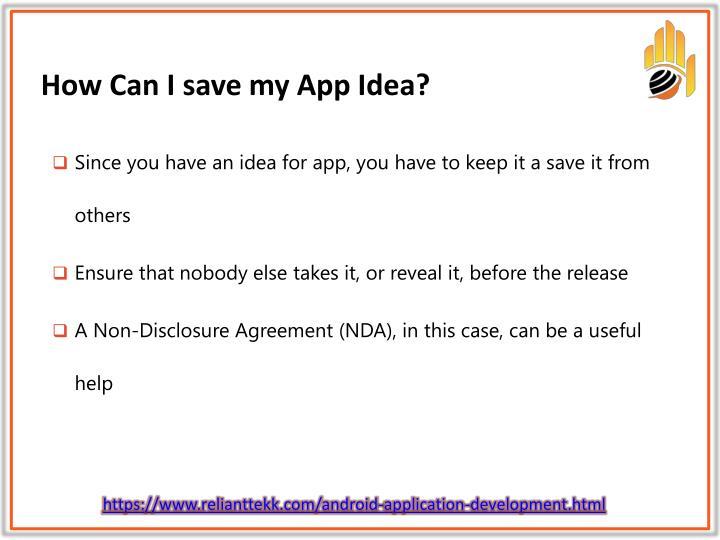 How can i save my app idea