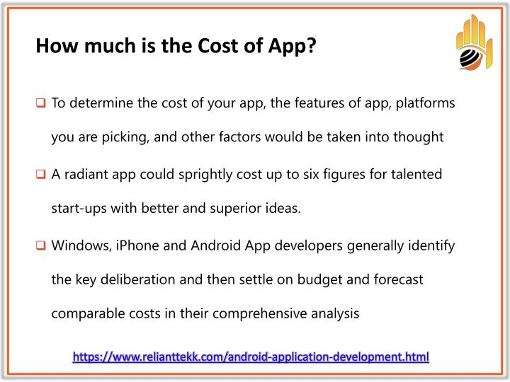 How much is the Cost of App?