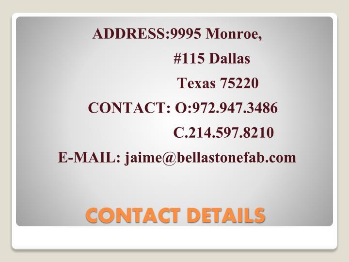 ADDRESS:9995 Monroe,