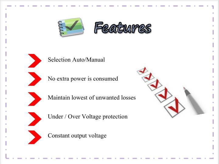 Selection Auto/Manual