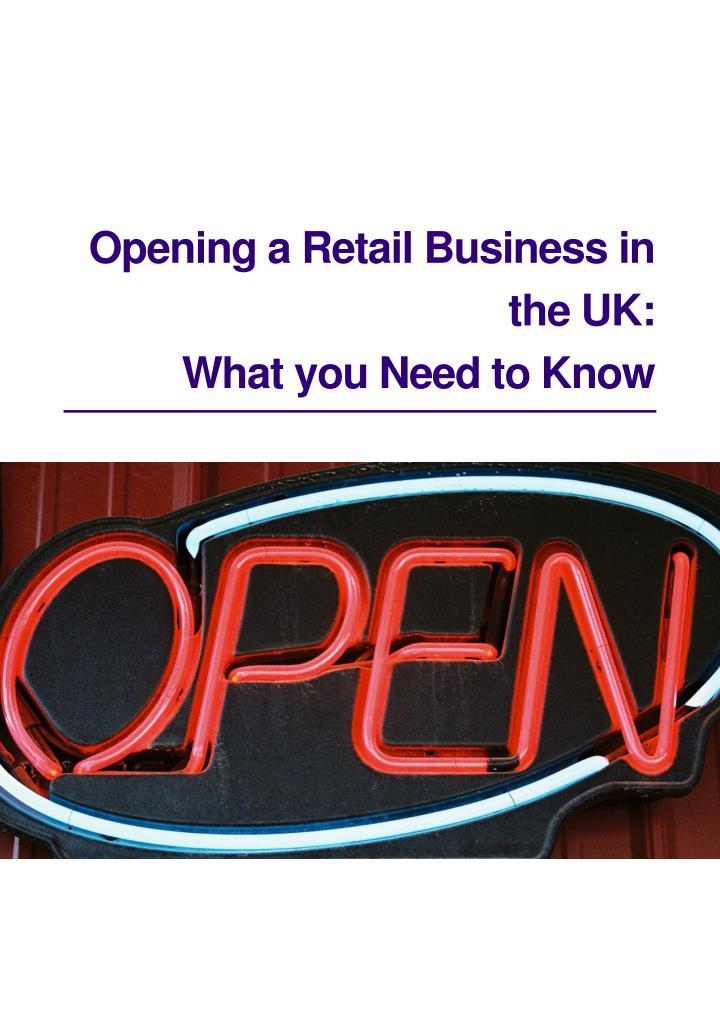 Opening a Retail Business in
