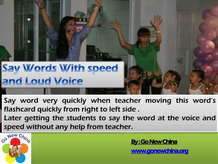 Say Words With speed