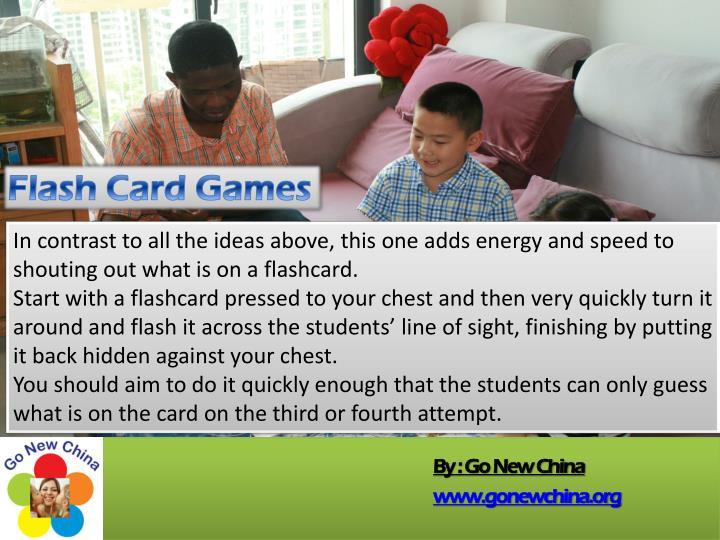 Flash Card Games