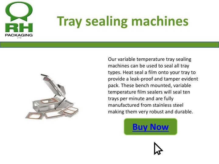 Tray sealing machines