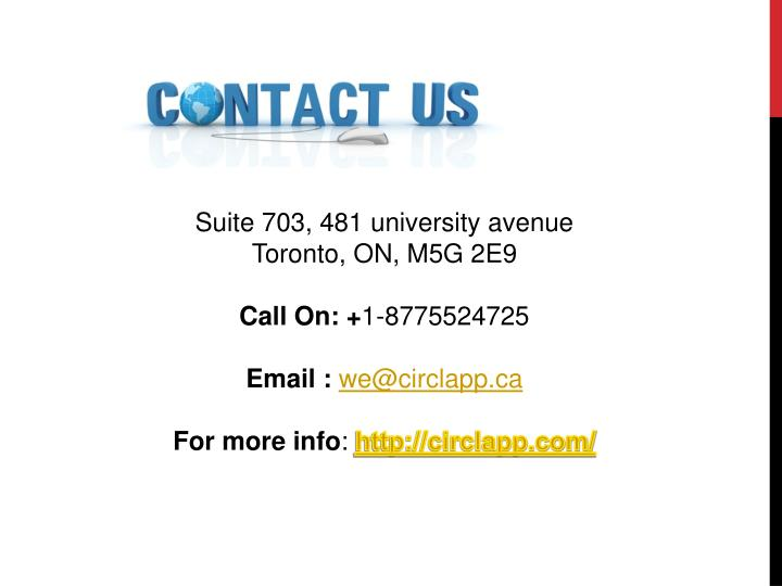 Suite 703, 481 university avenue
