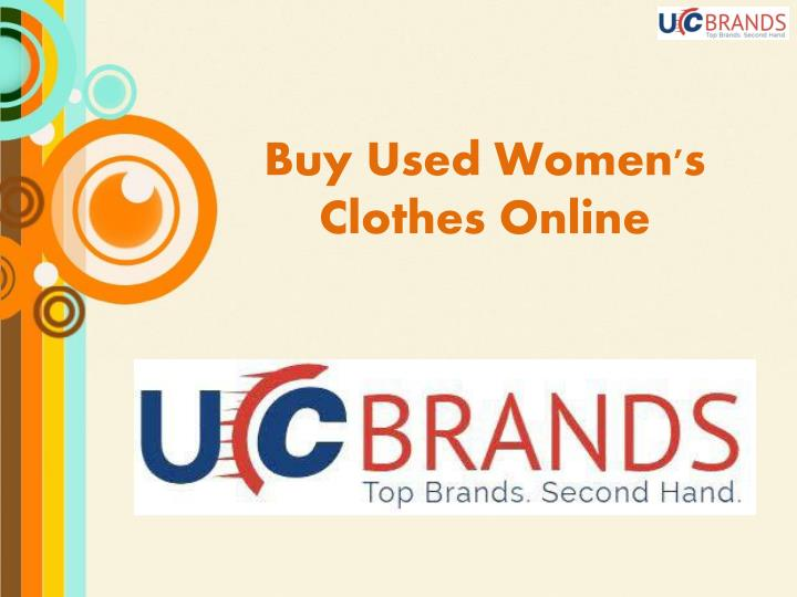 Buy used women s clothes online