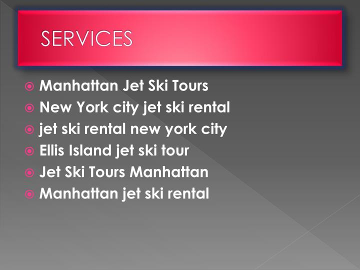 ppt new york city jet ski rental powerpoint presentation