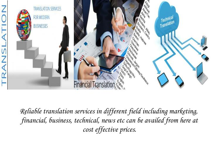 Reliable translation services in different field including marketing,