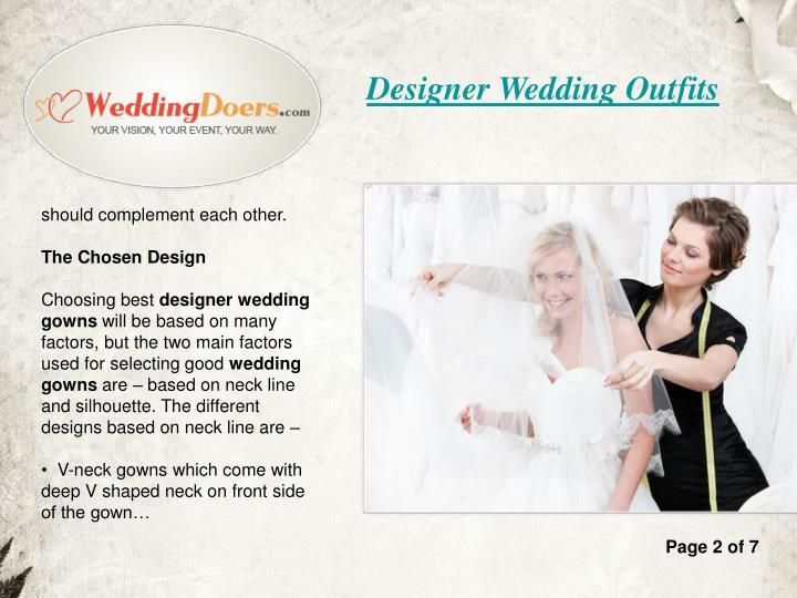 Designer Wedding Outfits
